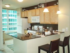 The Streeter Apartments In Chicago   Apartment Model Kitchen By  Village_Green, Via Flickr  Apartment Cleaning Chicago