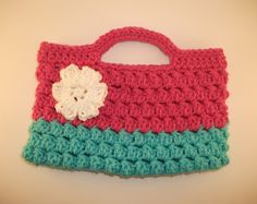 Our Seven Dwarfs: Valentine & Flower Purses. No pattern but easy to see how from pic.