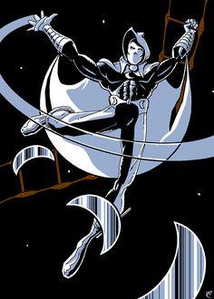 Saturday Sketch: Original Moon Knight #Sketchcard #Marvel #Comics #Marc #Spector