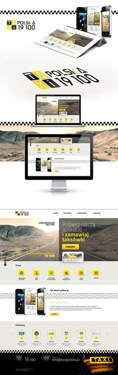 Projekt landing page Taxi. Strona internetowa dla Taxipolska.  #taxi #taxi_website #taxi_landing_page  #taxi_layout #taxi_design http://www.webmedio.pl/
