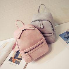 Женщины рюкзак новый прибыл моды случайные ПУ дамы рюкзаки конфеты цвет Корея…