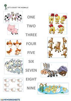 About Me Activities, Animal Worksheets, Minimalist Nails, Animal 2, School Subjects, Card Reading, Your Teacher, Kindergarten Math, Farm Animals