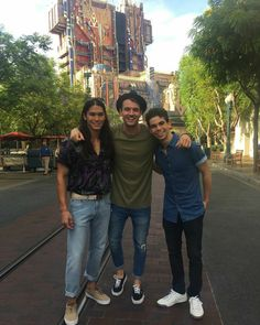 Cameron Boyce and Booboo Stewart at Disneyland meeting fans