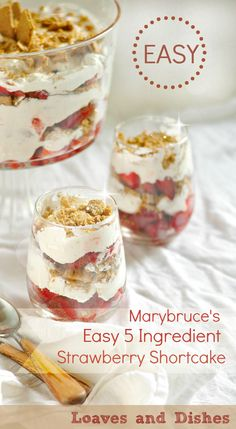 Marybruces Strawberry Shortcake @loavesanddishes.net