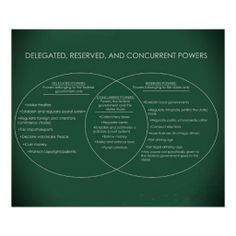 Delegated, Reserved, and Concurrent Powers classroom poster / social studies / education / federalism / government / political science / p.i.g / US history