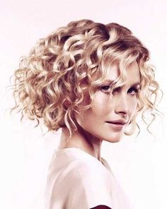 Short Haircuts for Curly Thick Blonde Hairdo