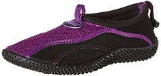 TECS Womens Aquasock Water Shoe PurpleBlack 7 M US -- Visit the image link more details.