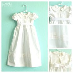 I want to make my baby girl's blessing dress. This is a cute and simple idea.