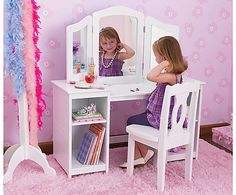 KidKraft 13018 Deluxe Vanity   Chair   KidKraft 13018 Deluxe Vanity   Chair  Every young girl needs her very own vanity  The KidKraft 13018 Deluxe Vanity   little girls vanity table and chair   Kids Room Decor   Pinterest  . Diy Vanity For Little Girl. Home Design Ideas