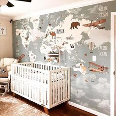 childrens room home decoration small room wall painting home design little girls diy home storage;table setting home furniture childrens bed display - The world's most private search engine Baby Bedroom, Baby Boy Rooms, Baby Boy Nurseries, Nursery Room, Kids Bedroom, Nursery Decor, Nursery Ideas, Bed Room, Bedroom Art