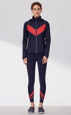 Tory Burch has Activewear!!  Tory Sport All-weather Run Jacket | @ToryBurch