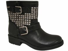 Studded Biker Bootie - Cathy Jean Shoes