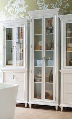 master bathroom glass door storage cabinet - Google Search