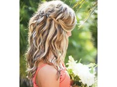 Peinado novia media cola trenza tejida / peinado de novia