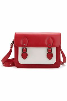 ROMWE   Metal Buckles Red Bag, The Latest Street Fashion