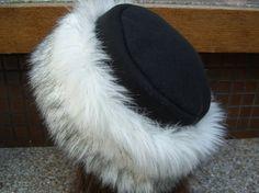 Russian Husky FAUX FUR HAT, Pillbox Black Fleece, Women's Winter Hat, Fur Hat on Etsy, $31.95