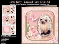 Little Kitty   Layered Card Mini Kit on Craftsuprint - View Now!