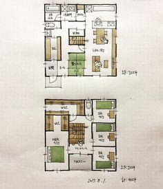 『40坪の間取り』 ・ 南玄関。家事動線。 今日から8月、ああ早い。 ・ #間取り#間取り集 #間取り図 #間取り力 #間取り相談 #間取り図大好き #間取り図好き #間取り考え中 #マイホーム計画 - atelierorb