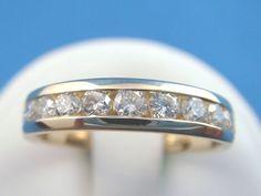0.60 CT. CHANNEL SET DIAMOND WEDDING BAND 4.3 Gram 14K GOLD Diamond Wedding Band #wedding