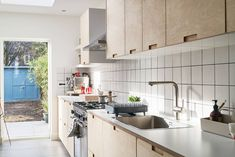 Birch plywood kitchen with Formica worktops