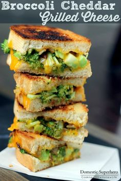 Broccoli Cheddar Grilled Cheese and 35 Ooey Gooey Grilled Cheese Recipes