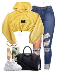 """Untitled #1484"" by lulu-foreva ❤ liked on Polyvore featuring Rolex, Givenchy, NIKE and Versace"