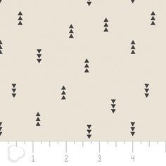 Camelot Cottons House Designer - Nordic - Triangles in Au Naturel