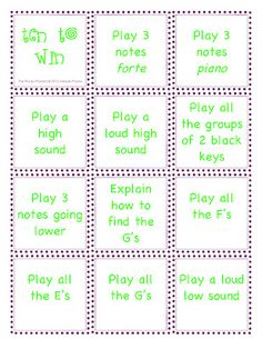 great preschool age music game
