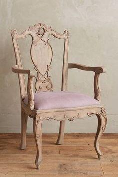 Anthropologie Handcarved Tassel Armchair #anthrofave ll Beautiful