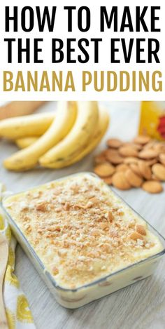 Classic southern homemade banana pudding starts with the crunchy layer of vanilla wafers, layered with perfectly ripe banana slices and covered in the best homemade vanilla pudding you have ever tasted. Not Yo Mamas Banana Pudding Recipe, Banana Pudding Desserts, Homemade Banana Pudding, Best Banana Pudding, Homemade Vanilla, Southern Cooking Recipes, Southern Desserts, Easy Cooking, Southern Dishes