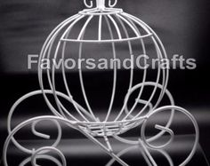 LARGE Wire cinderella pumpkin carriage for by CODWholesale on Etsy