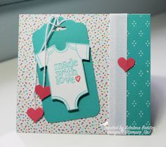 Stampin' Up! Made With Love for baby ~ Escape2stamp, layout from Freshly Made Sketches #196