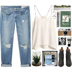 Taiko by vv0lf on Polyvore featuring H&M, rag & bone/JEAN, Jeffrey Campbell, Iosselliani, Aesop, Hermès and Polaroid
