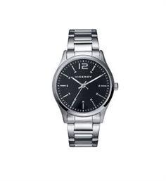 Reloj Viceroy clásico color acero y esfera negra, sencillo, práctico e útil, lectura de hora en función de 3 agujas y impermeable. www.relojes-especiales.net #clásico #acero #mujer