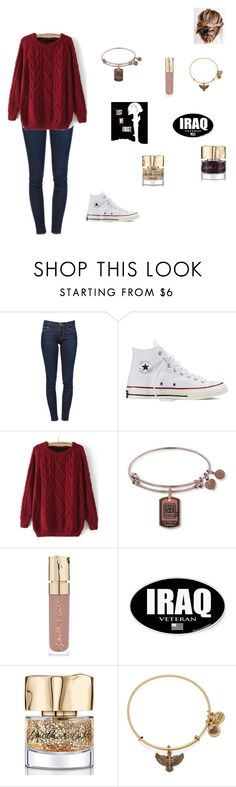 """Happy Veteran's Day"" by sass-queen-159 ❤ liked on Polyvore featuring Frame Denim, Converse, Smith & Cult and Alex and Ani"