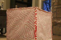 DIY Cube Ottoman Slip Cover Tutorial