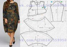 Платье-кокон с длинными рукавами. #простыевыкройки #простыевещи #шитье #платье #платьекокон #бохо #выкройка