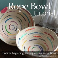 I've been noticing a lot of rope bowls in my social media feeds and wanted to share some of the information I've gathered. From different ways to begin, end and options to decorate as you go. Using th