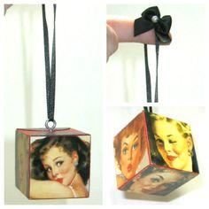 Retro Pinup Ornament 1950s Pin Up Girl Art Ornie Pinup Decor. $12.00, via Etsy.