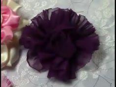 Как сделать цветок из ткани. Стиль шебби шик. Мастер-класс.