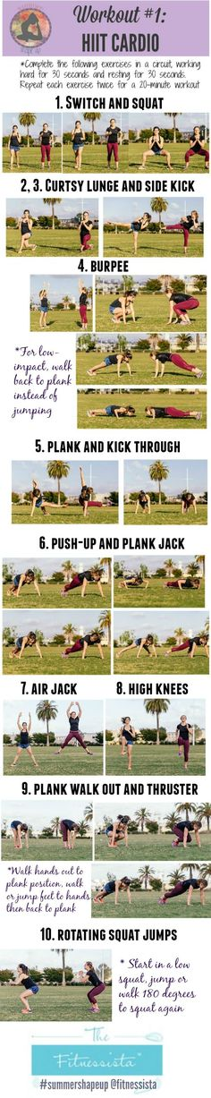 Summer Shape Up 2015: Workout #1  In love with The Fitnessista and her workouts. Especially this one!