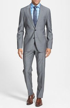 BOSS HUGO BOSS 'Jefford/Lennon' Trim Fit Wool Suit available at #Nordstrom