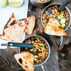 Take your outdoor cooking to crazy-delicious heights with these easy backpacking meals from the experts at Dirty Gourmet. (And keep the recipes in mind for lightweight car camping, too.)