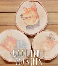 Here's How To Make Wood Print Coasters All On Your Own