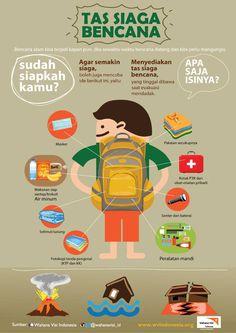 Bencana bisa datang kapan saja. Siapkan tas siaga bencana kamu sekarang juga. #bencana #siaga @KatamiStore #KatamiStore