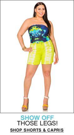 da19a64d37 Shorts   Capris Fashionable Plus Size Clothing