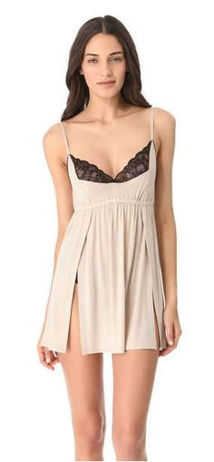 Jersey and Lace Chemise | 35 Dreamy Wedding Lingerie Ideas