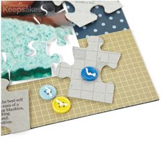 Scrapbook Inspiration: Using Puzzle Pieces as Accents and Journaling Spots