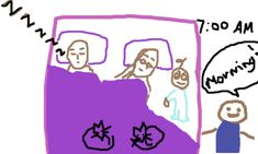what it is like to (not) sleep at night - illustrated with crappy pictures