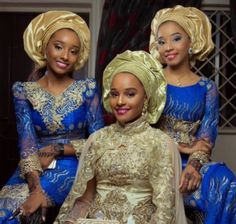 Nigerian bride and bridesmaid